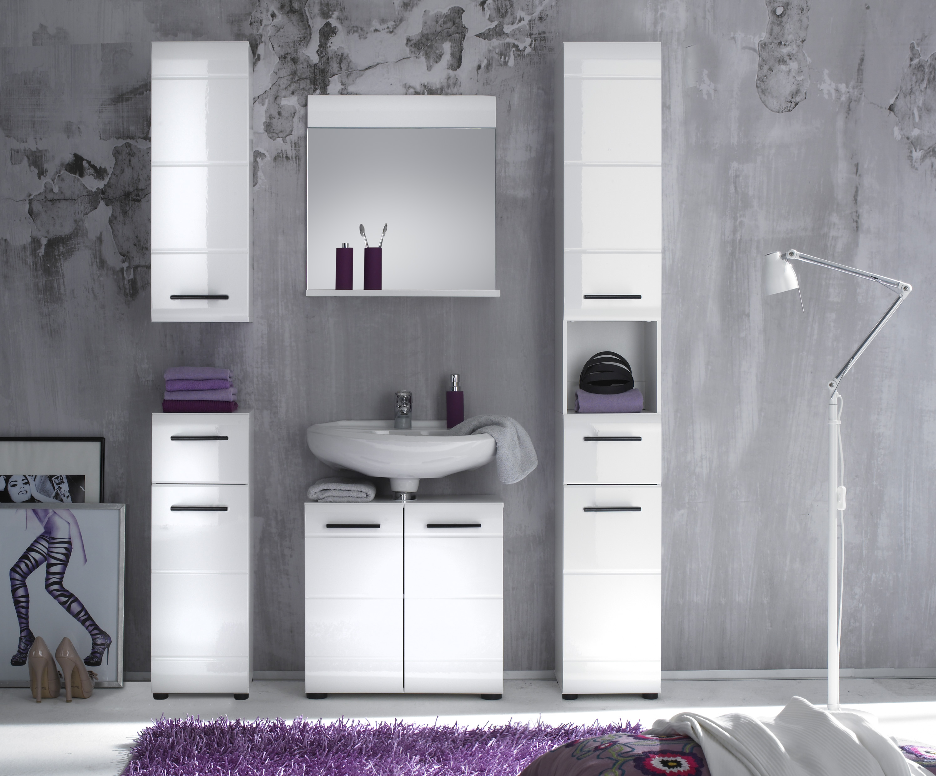 Badmöbel stehend günstig  Waschbeckenunterschrank Gäste Wc Günstig: Gestaltung badezimmer ...