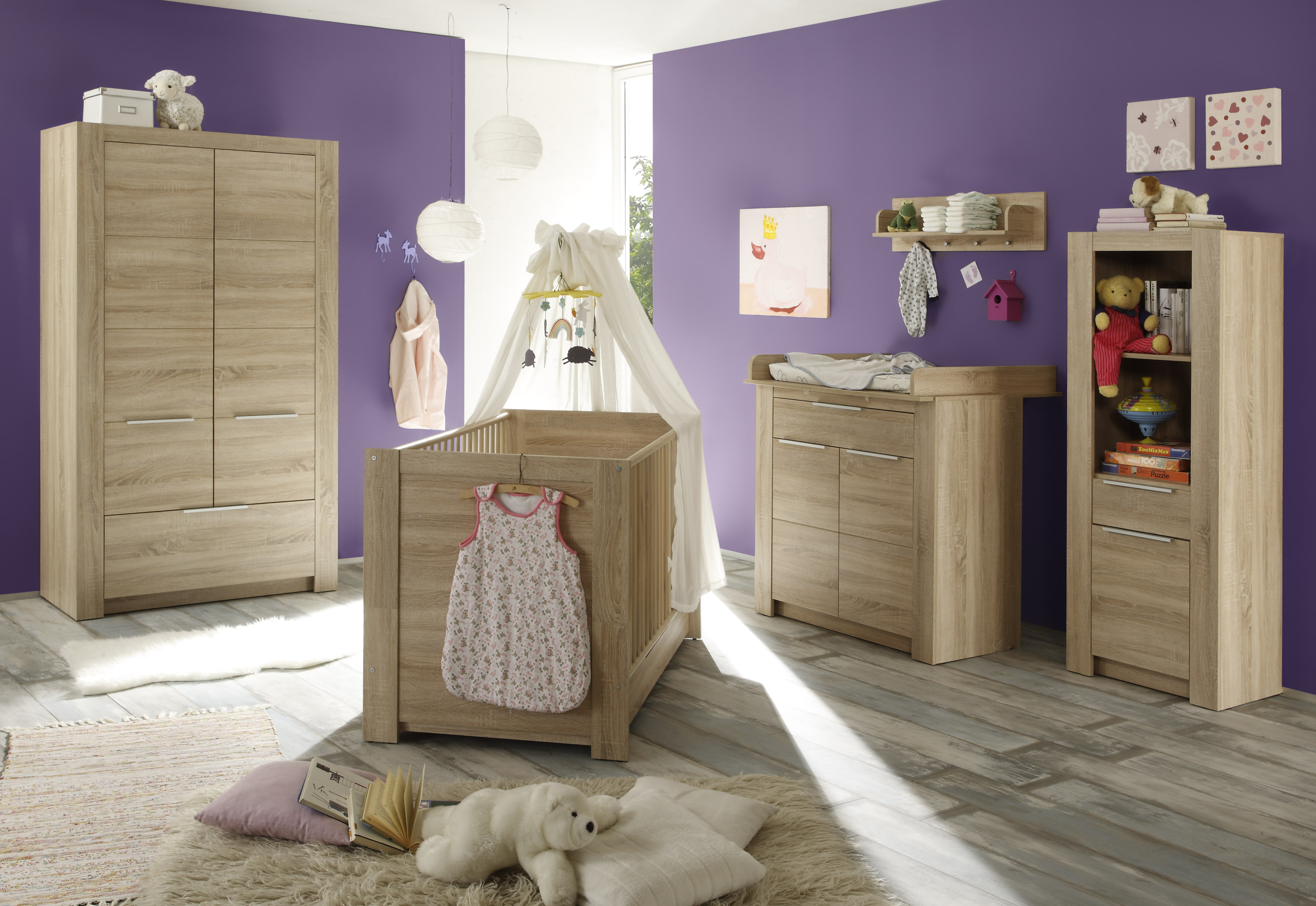 wickelkommode carlotta von trendteam eiche s gerau hell. Black Bedroom Furniture Sets. Home Design Ideas
