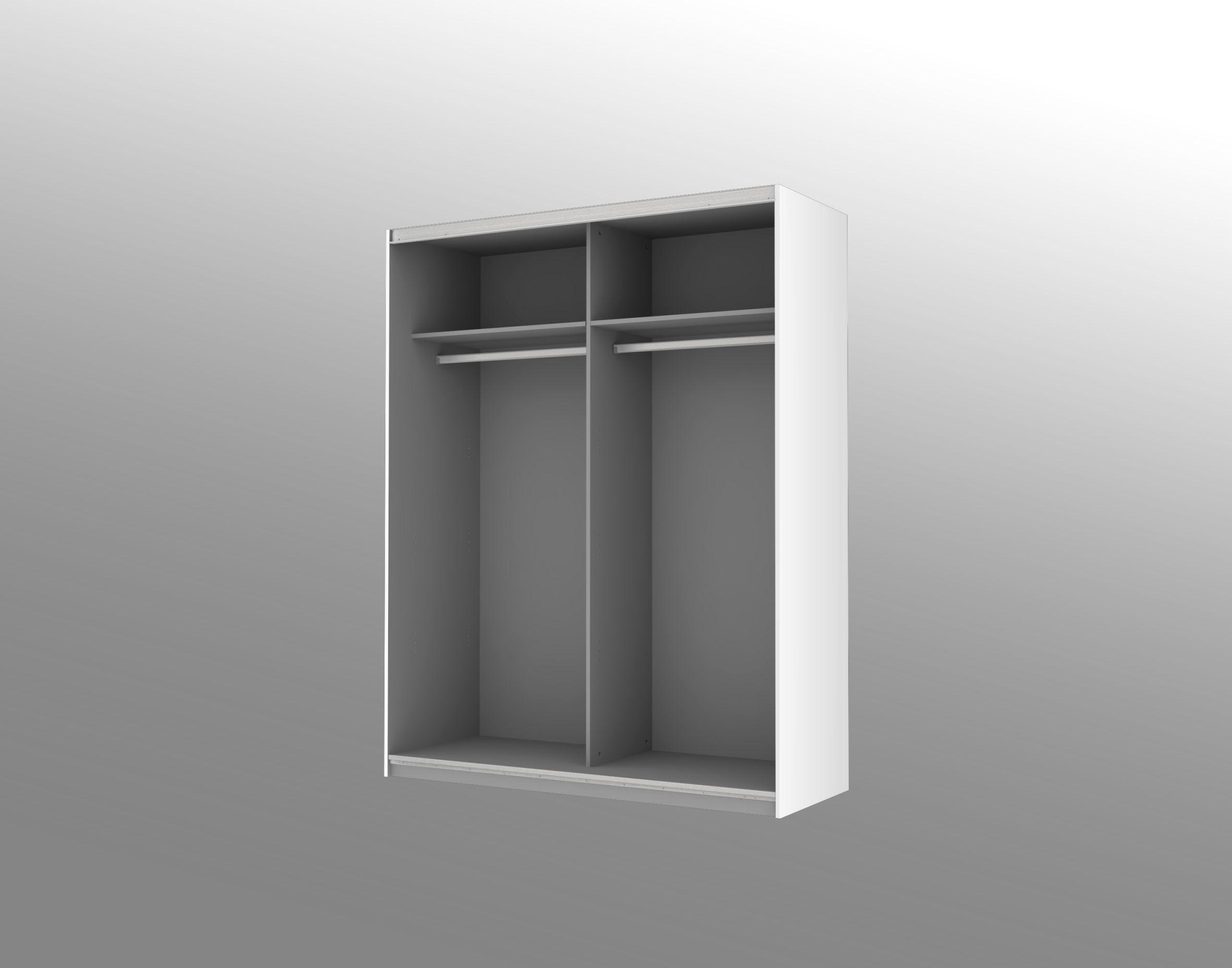 schwebet renschrank ca 270 cm breit starlet plus von forte weiss hgl. Black Bedroom Furniture Sets. Home Design Ideas