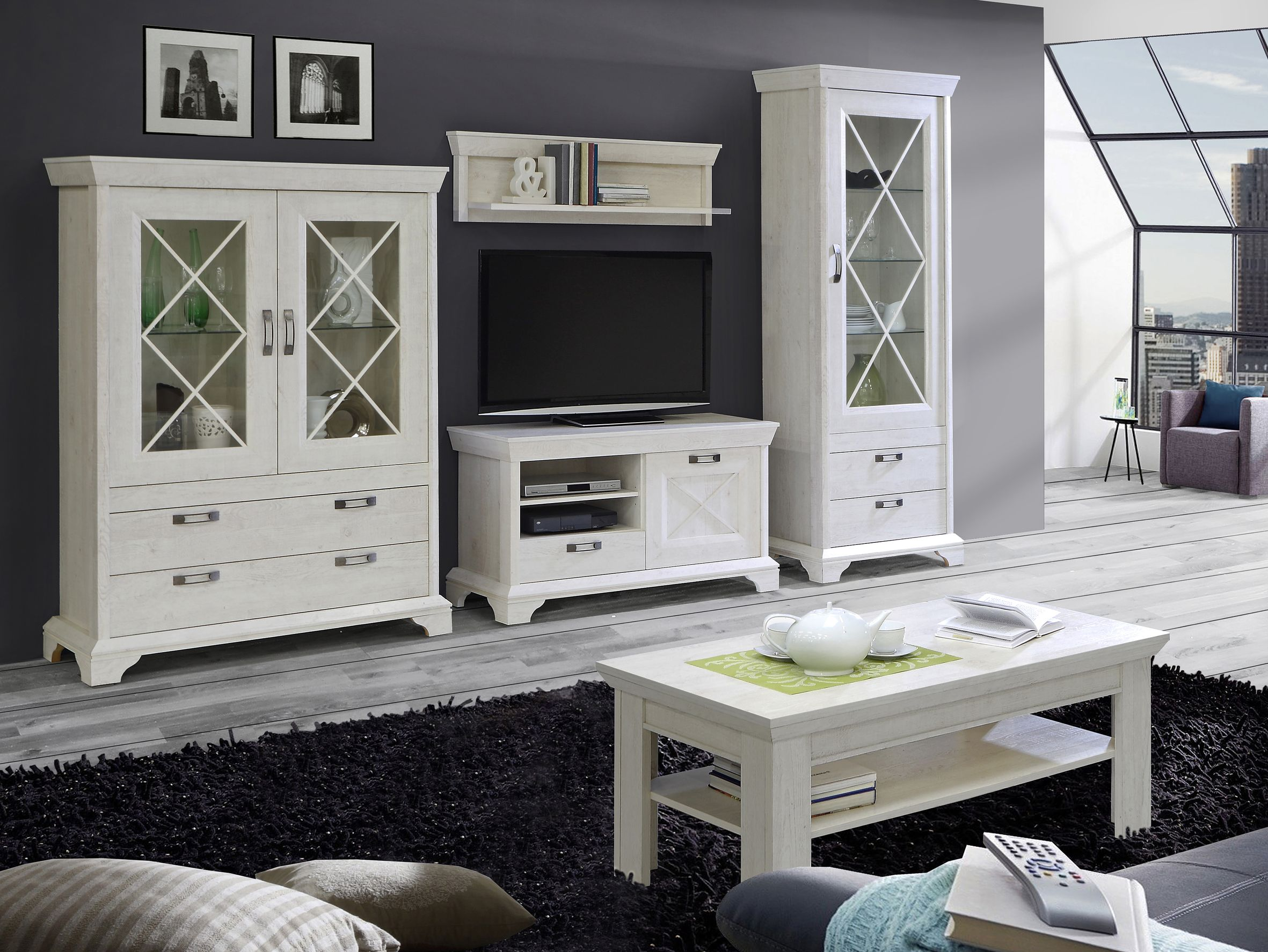 wohnzimmer vitrine kashmir. Black Bedroom Furniture Sets. Home Design Ideas