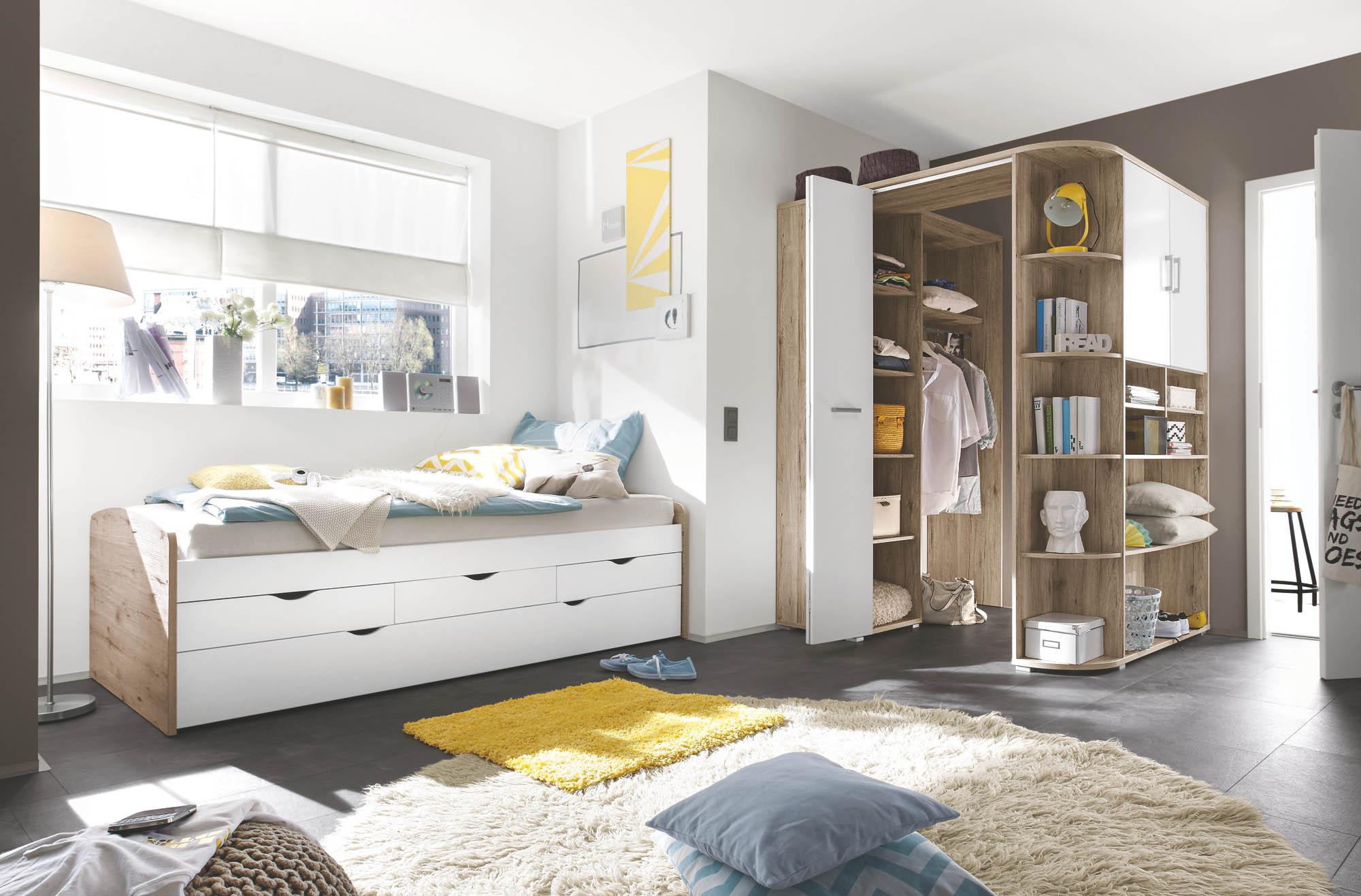 172314 eckschrank sonoma eiche weiss ebay. Black Bedroom Furniture Sets. Home Design Ideas