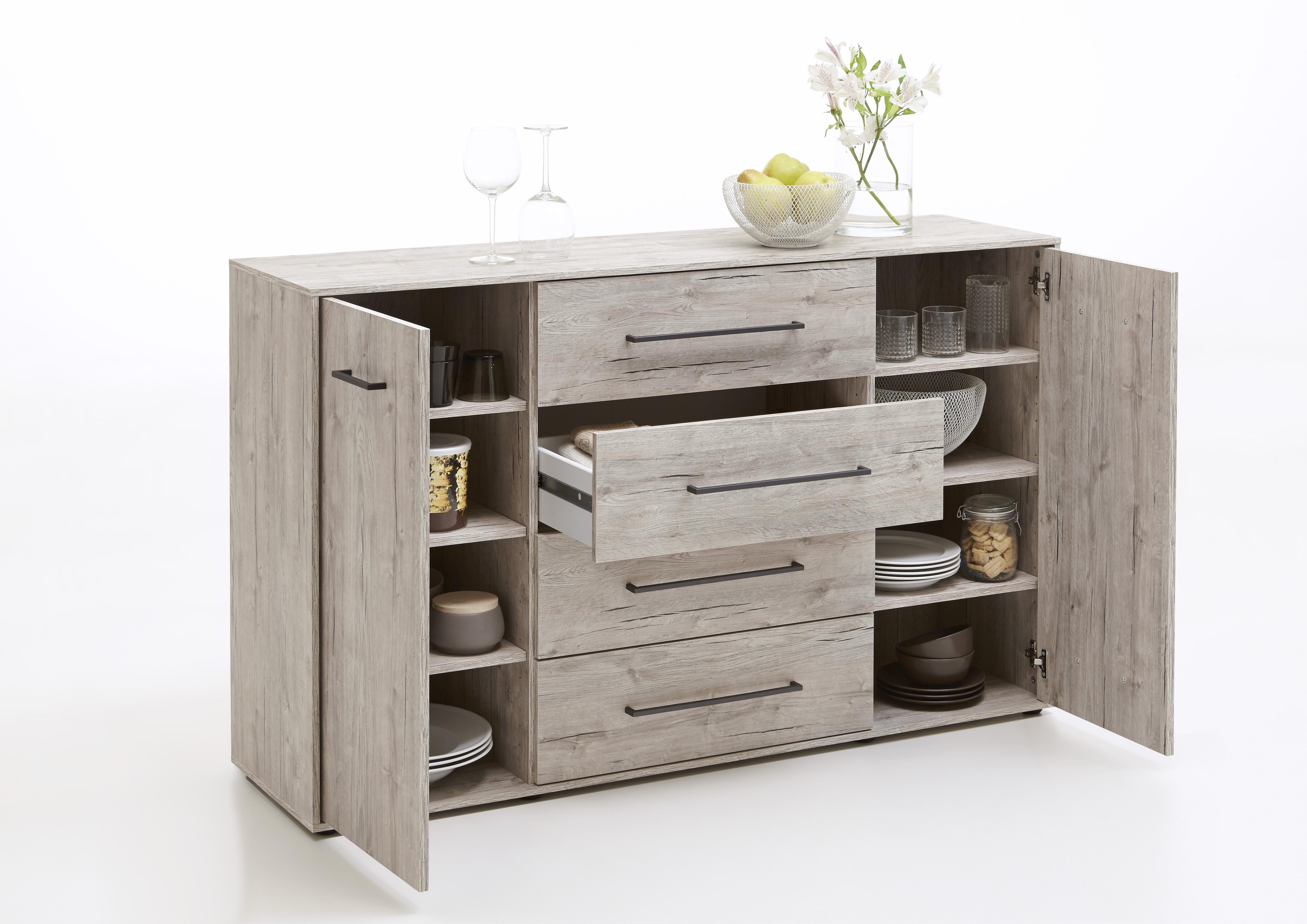 juli 6 kommode 2 trg 4 schubk sten von fmd sandeiche. Black Bedroom Furniture Sets. Home Design Ideas