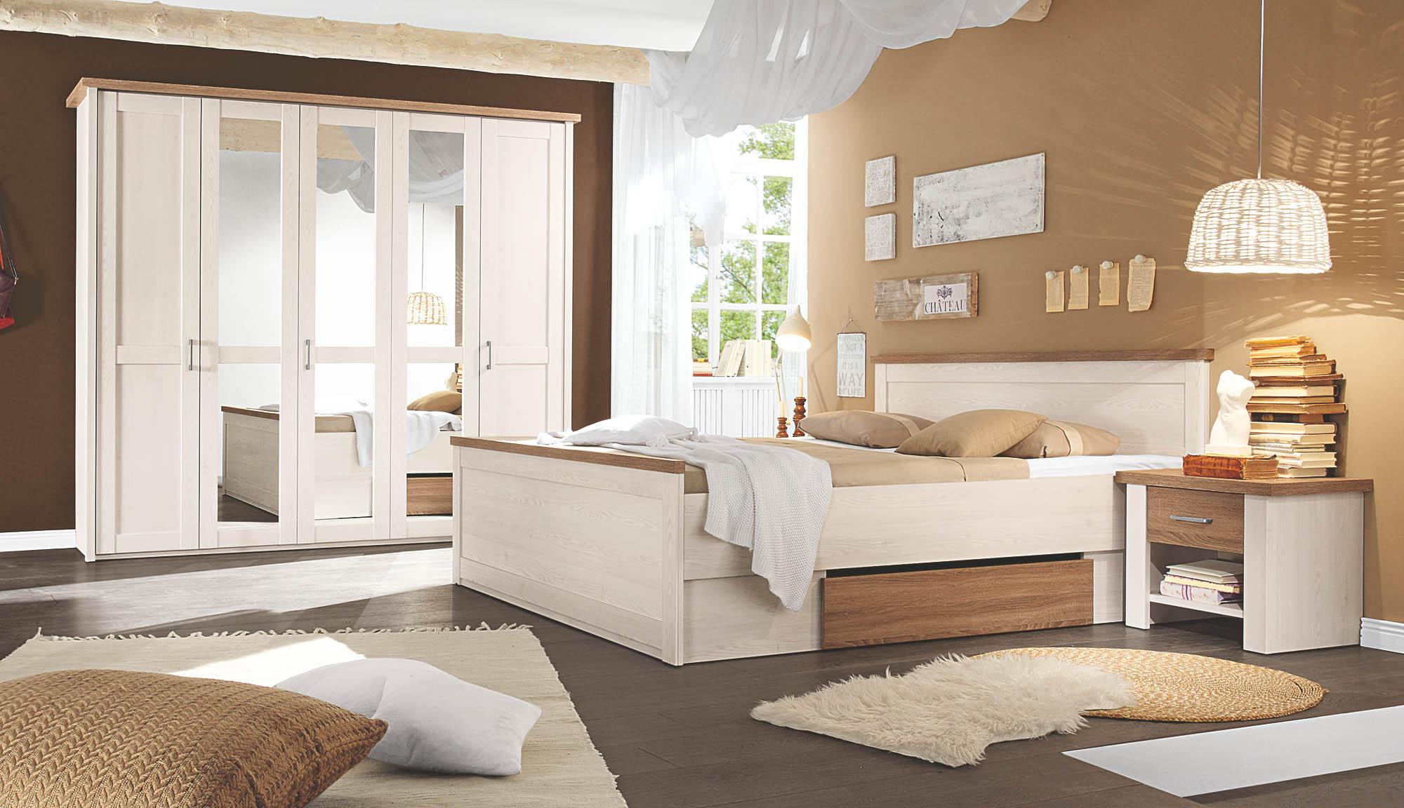 Kleiderschrank 5 Trg Luca Von Pol Power Pinie Weiss Truffel