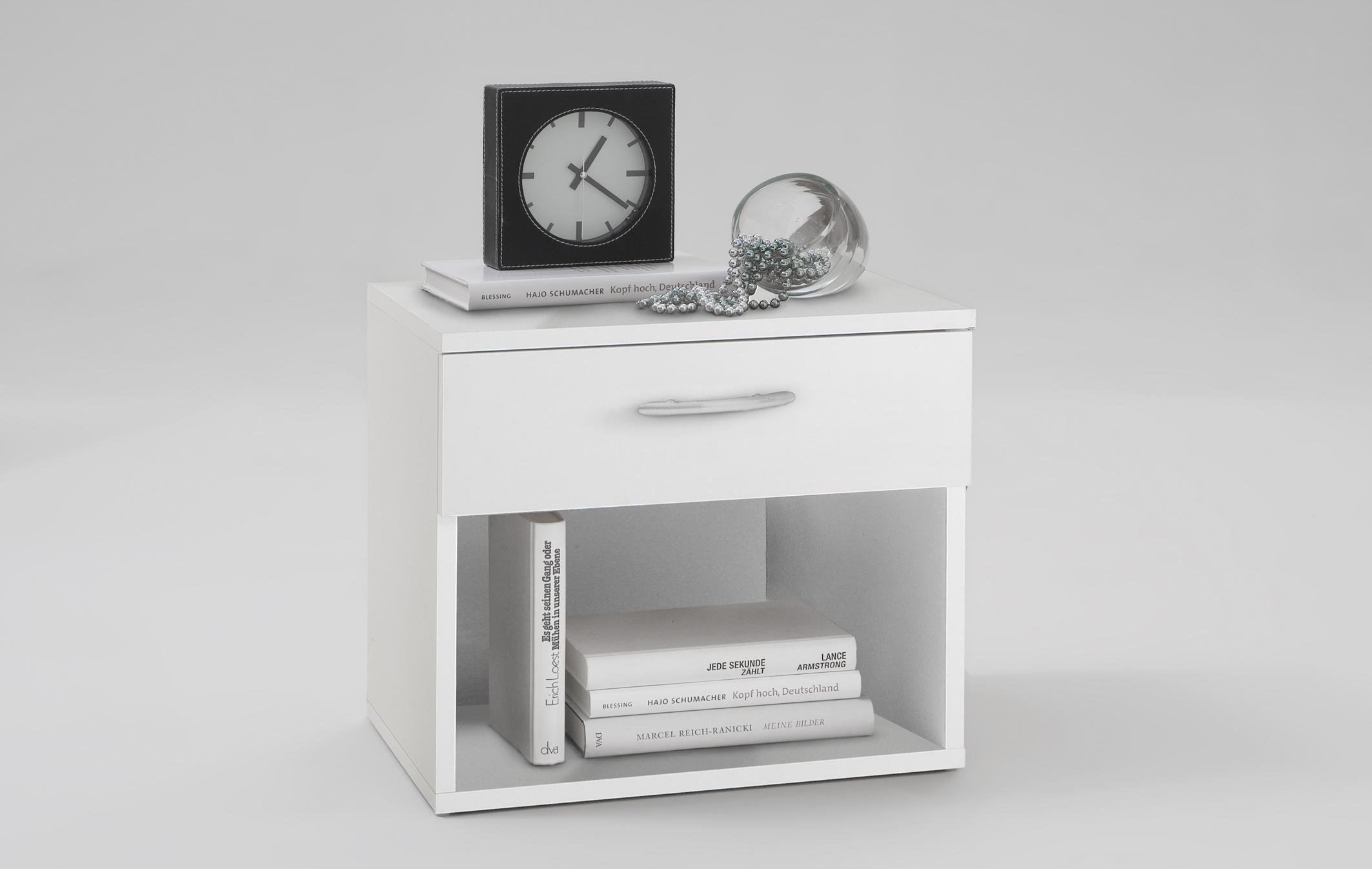 jonny nachtkonsole von fmd wei. Black Bedroom Furniture Sets. Home Design Ideas