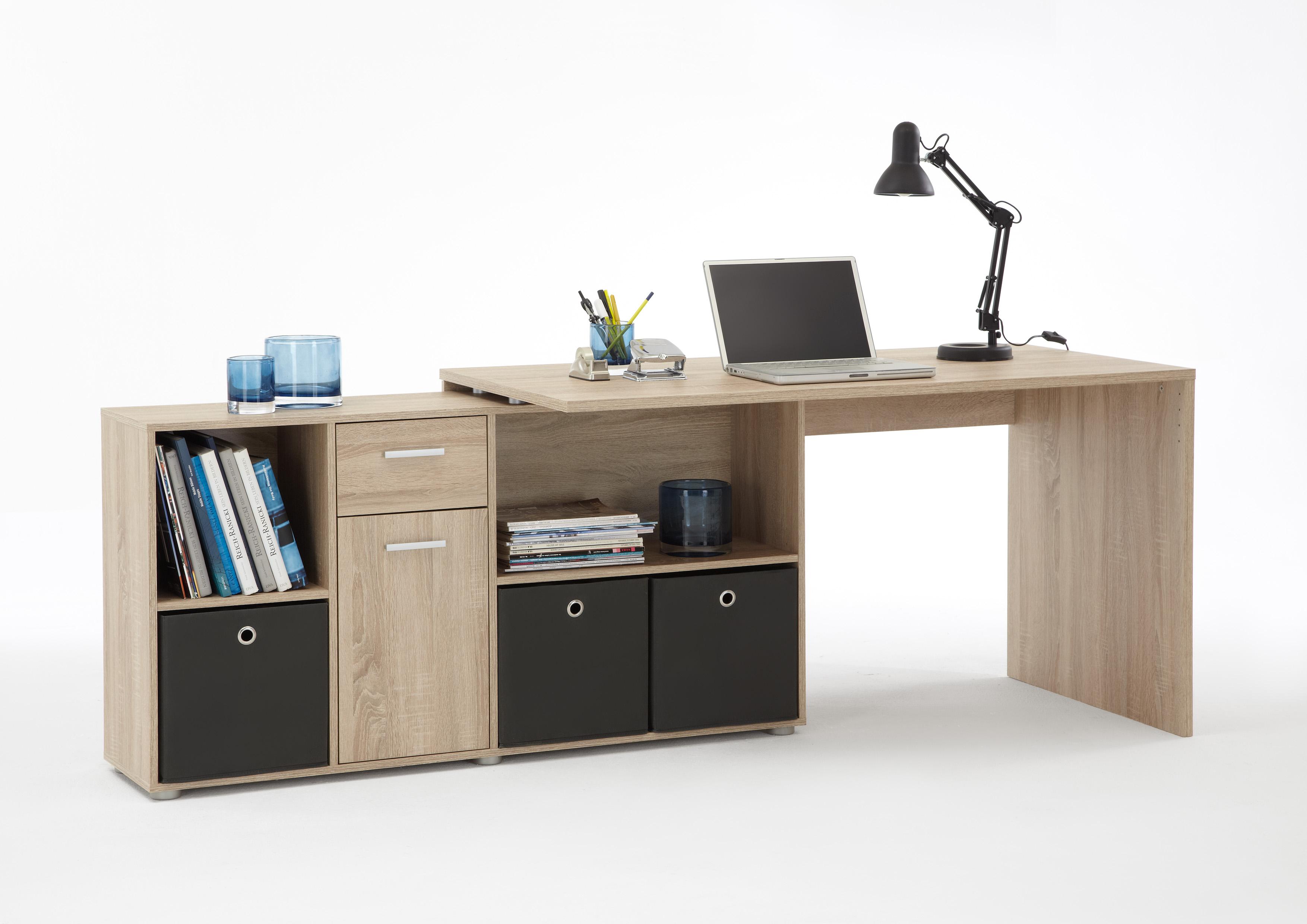 Schreibtisch winkelkombi eiche - Bureau d angle modulable ...