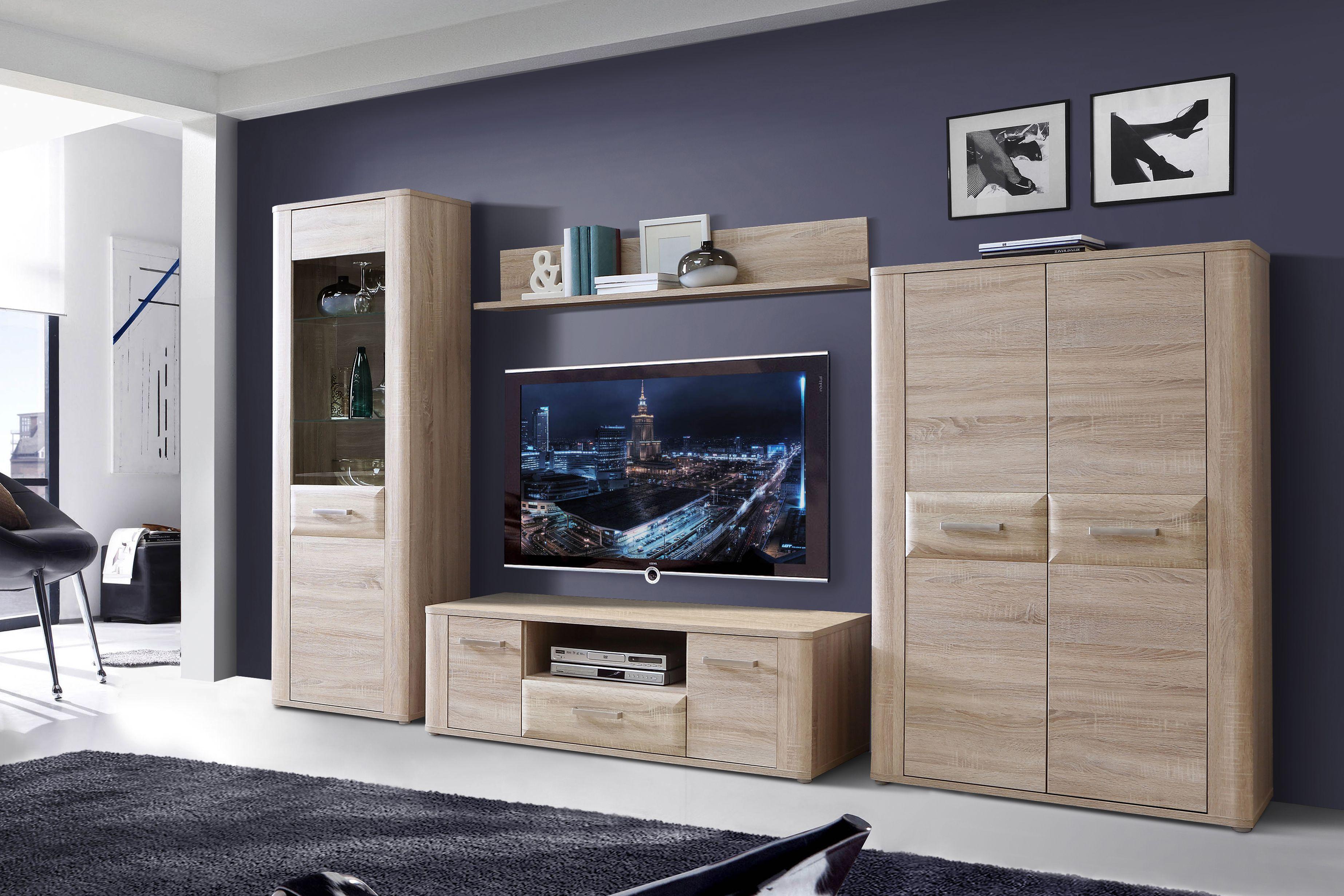 vitrine spencer von forte sonoma eiche. Black Bedroom Furniture Sets. Home Design Ideas