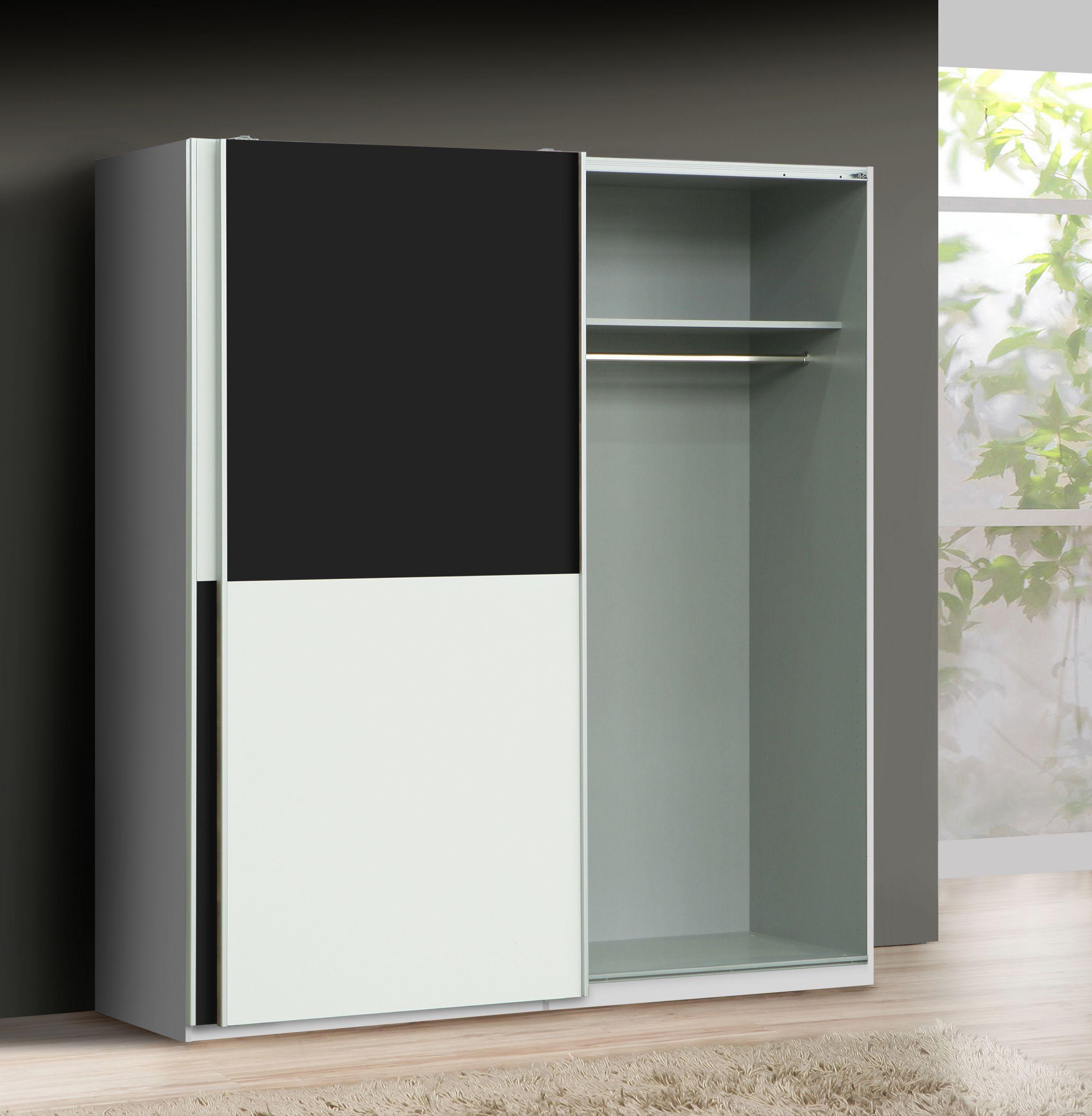 schwebet renschrank express von forte schwarz weiss. Black Bedroom Furniture Sets. Home Design Ideas