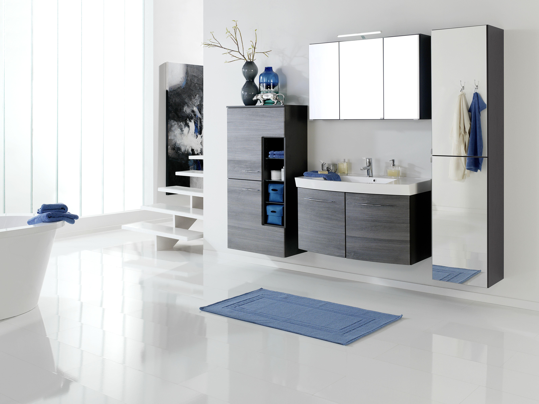waschtisch set 100 2 trg florida inkl led beleuchtung von held m bel eiche rauchsilber graphitgrau. Black Bedroom Furniture Sets. Home Design Ideas