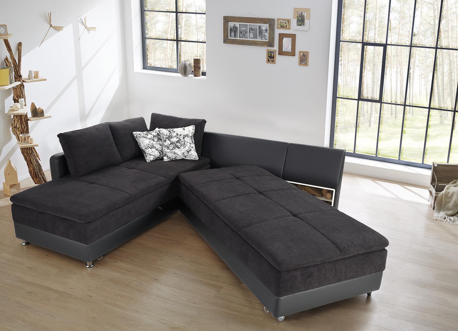 wohnlandschaft dauerschl fer inkl bettkasten schwenkteil. Black Bedroom Furniture Sets. Home Design Ideas