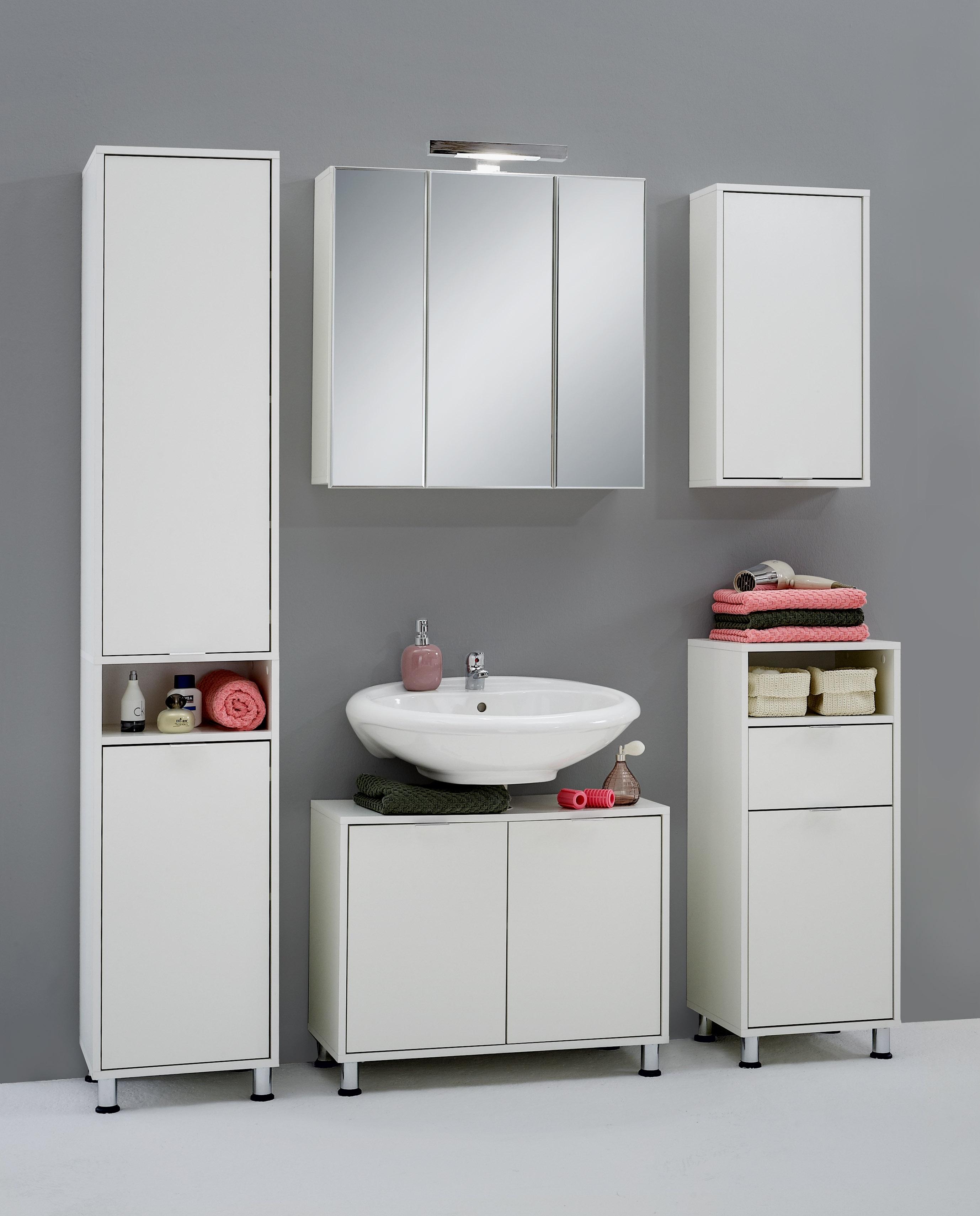 ZAMORA 5 Badezimmer-Wandschrank von FMD Weiss