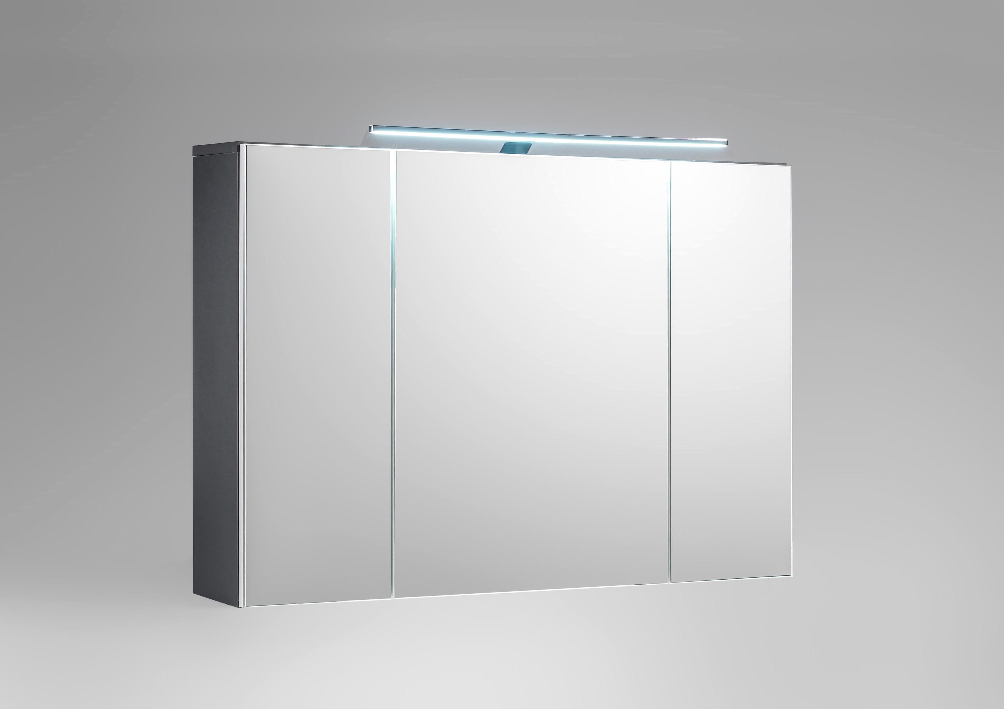 Badezimmer-Set 2 tlg MANHATTAN von Bega Weiss HG / Grau