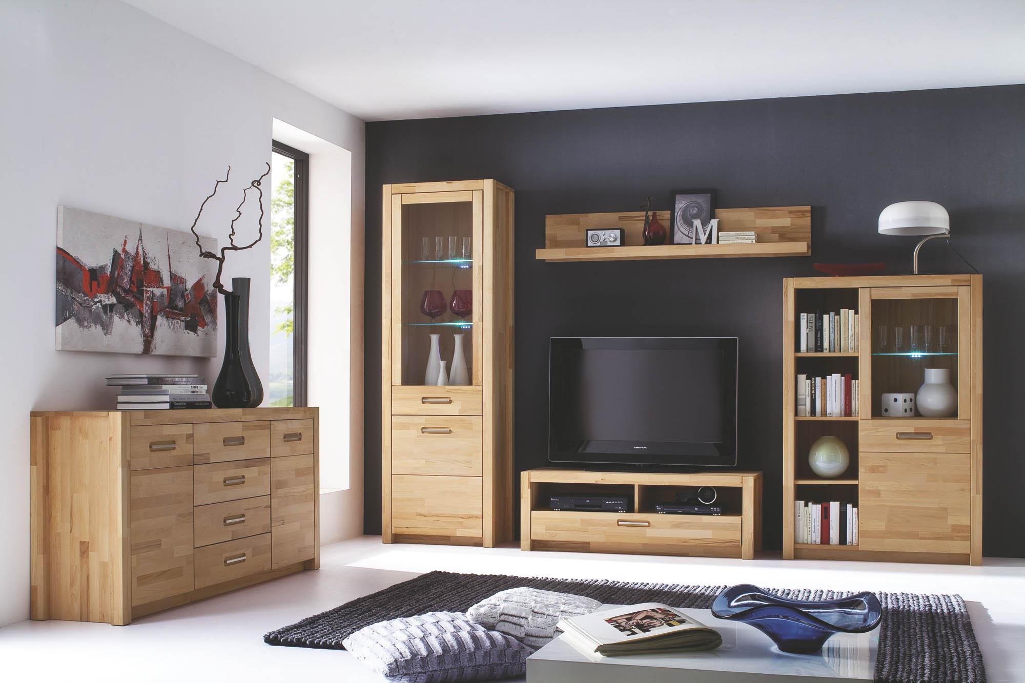 Wohnwand inkl beleuchtung 4 tlg fenja von mca furniture for Wohnwand fenja