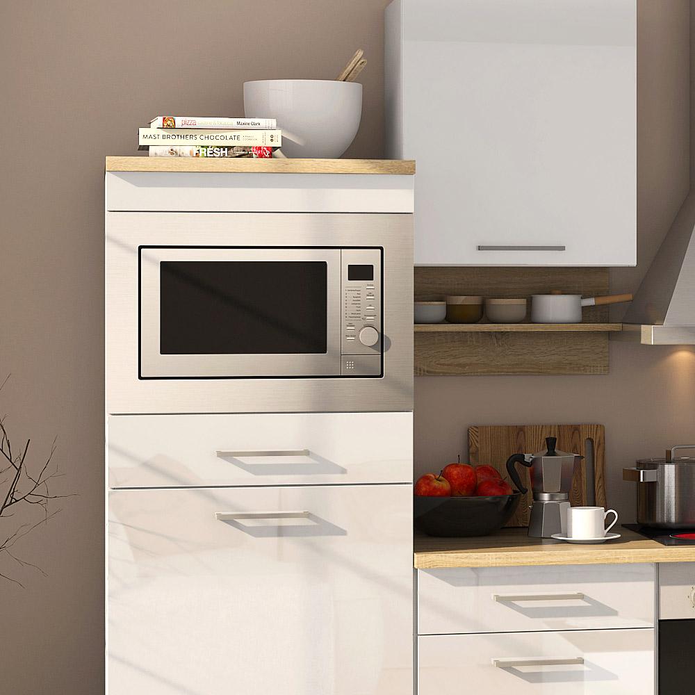 k chenblock inkl e ger te 270 cm breit mailand 270 von held m bel weiss hochglanz weiss. Black Bedroom Furniture Sets. Home Design Ideas