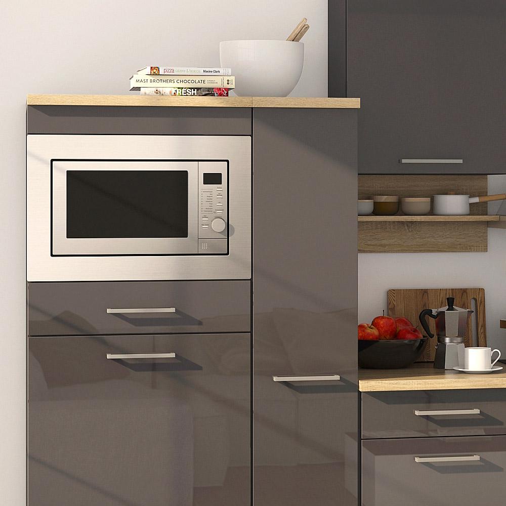 k chenblock inkl e ger te und apothekerschrank 310 cm breit mailand 310ga von held m bel grafit. Black Bedroom Furniture Sets. Home Design Ideas