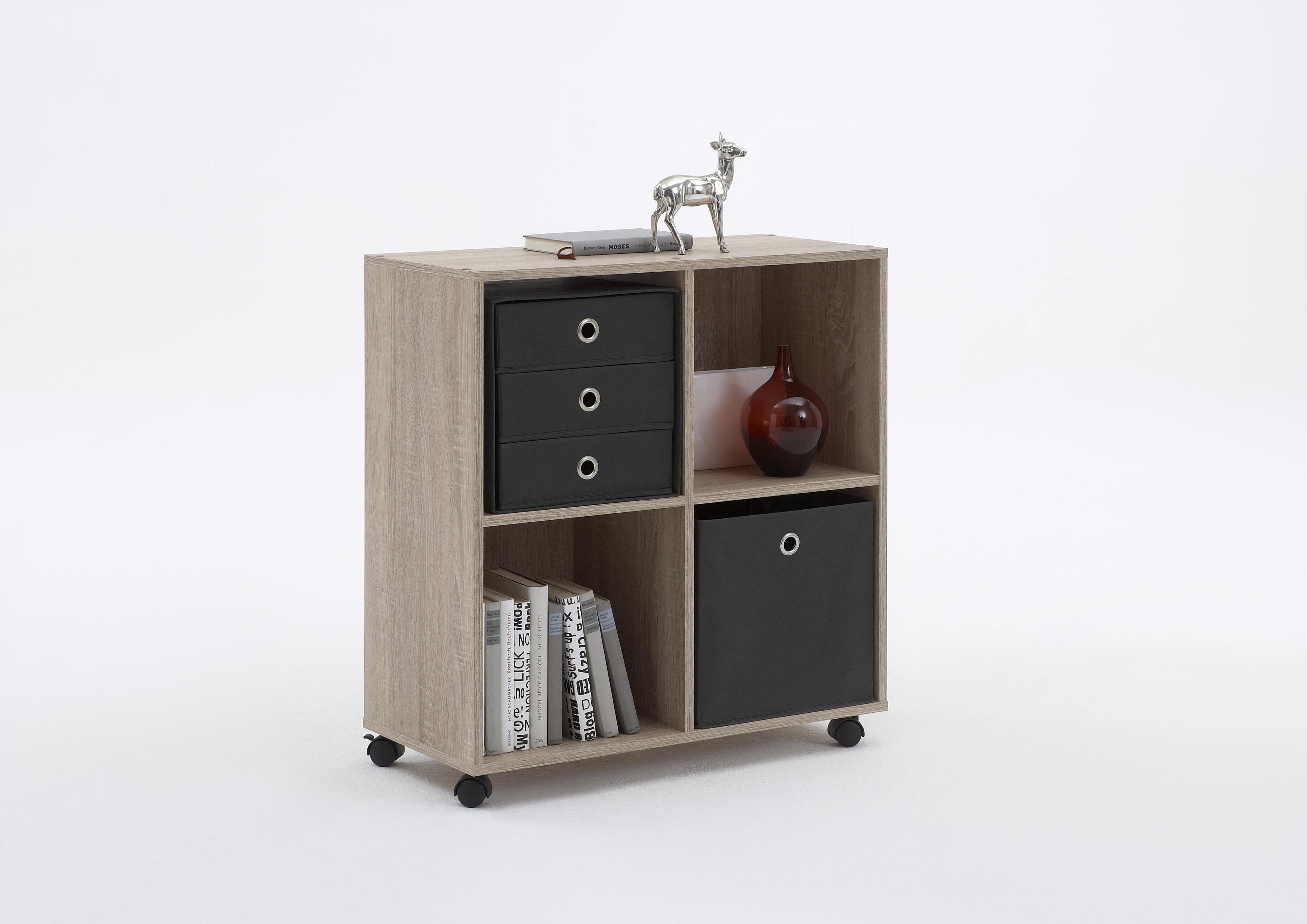 sprint regal auf rollen von fmd sandeiche. Black Bedroom Furniture Sets. Home Design Ideas