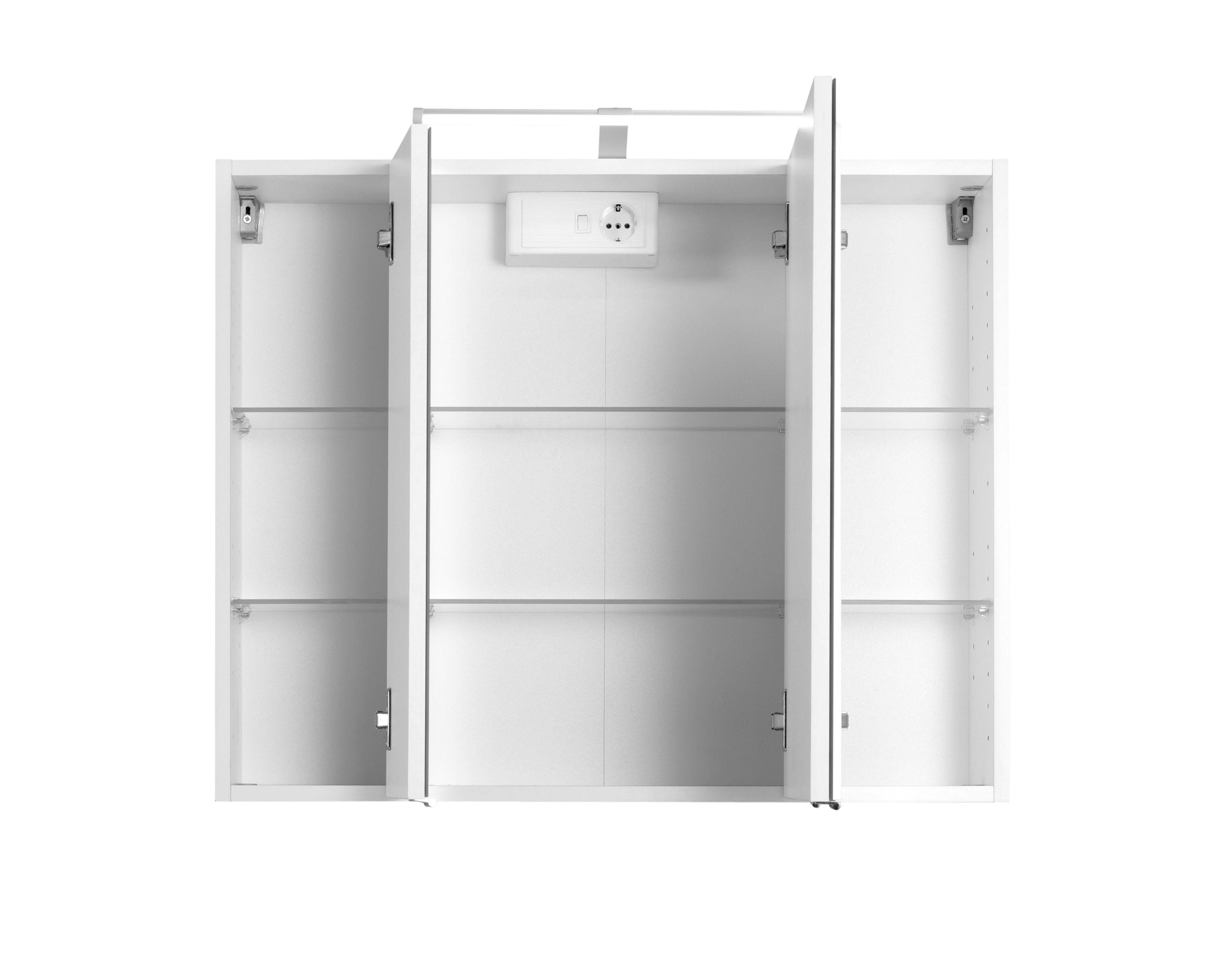 3d spiegelschrank 80 inkl led beleuchtung capri von held. Black Bedroom Furniture Sets. Home Design Ideas