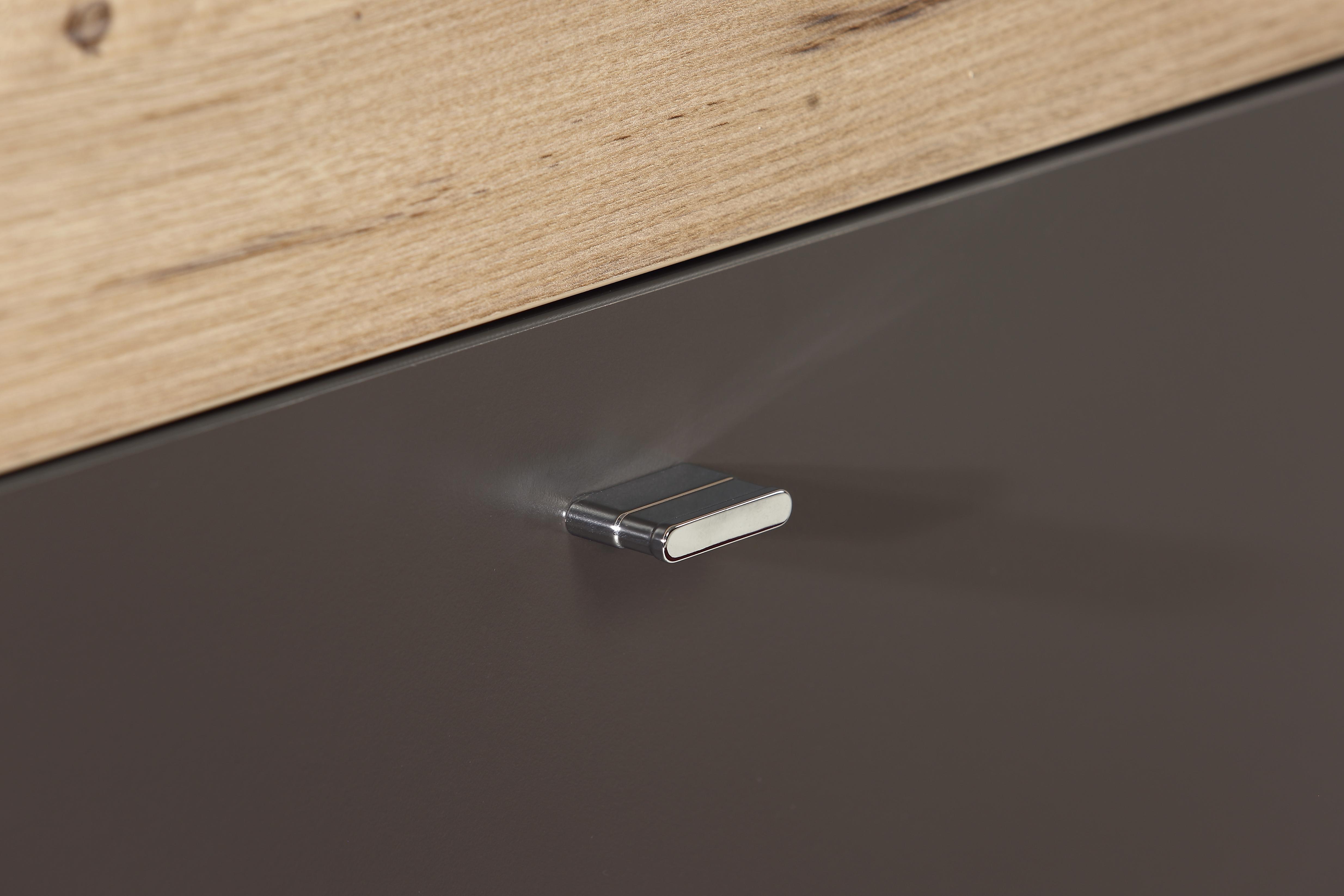 Garderobe 3 tlg como von forte wolfram grau planked for 3 teilige garderobe