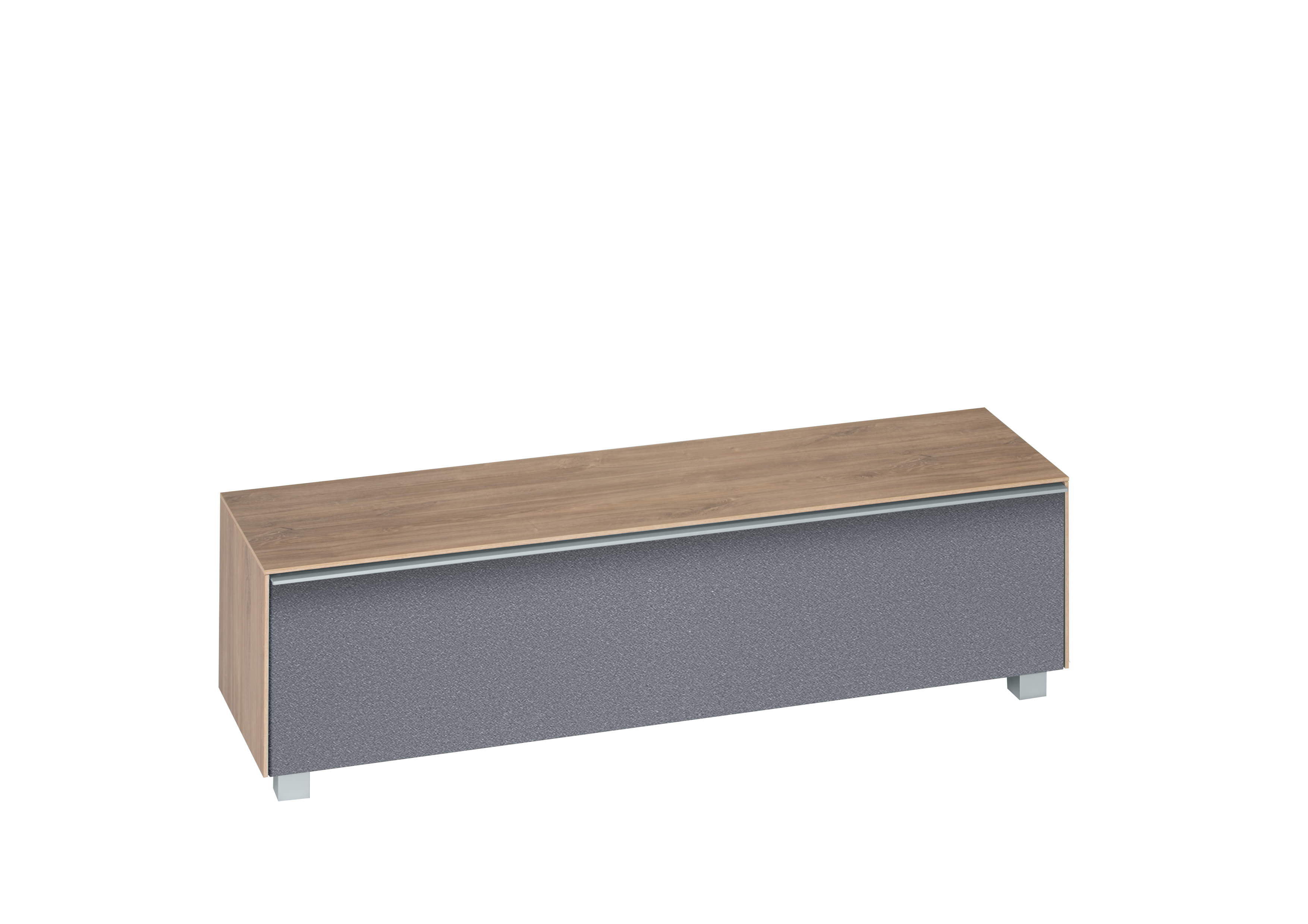 lowboard 160 cm breit soundconcept wood von maja riviera eiche grau. Black Bedroom Furniture Sets. Home Design Ideas