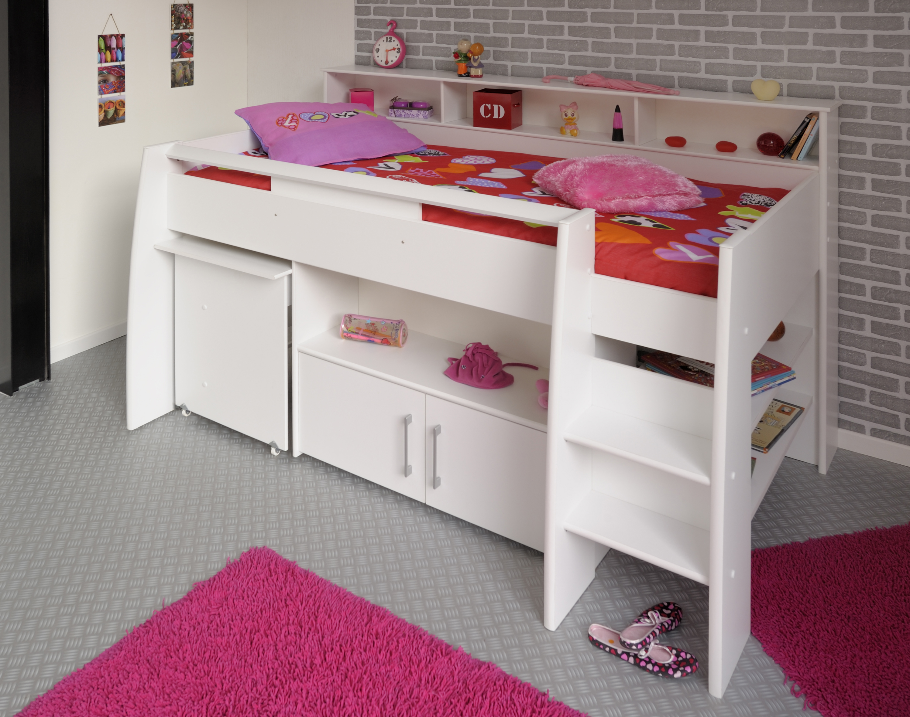 hochbett swan1. Black Bedroom Furniture Sets. Home Design Ideas